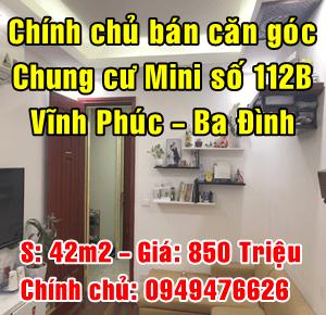 Bán căn góc chung cư mini số 112B Phường Vĩnh Phúc, Quận Ba Đình