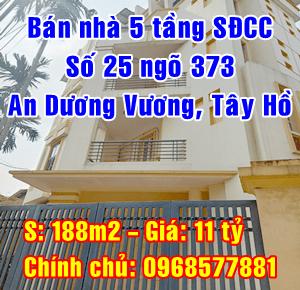 Bán nhà số 25 ngõ 373 An Dương Vương, Phường Phú Thượng, Quận Tây Hồ