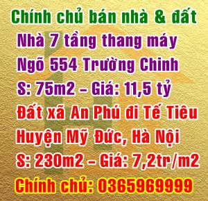 Chính chủ bán nhà 7 tầng thang máy, ngõ 554 Trường Chinh, quận Đống Đa