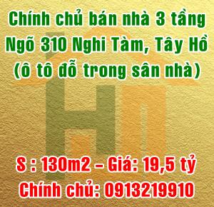 Chính chủ bán nhà ngõ 310 Nghi Tàm, phường Quảng An, Quận Tây Hồ