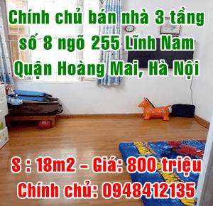 Chính chủ bán nhà số 89 ngõ 255 đường Lĩnh Nam, Hoàng Mai, Hà Nội