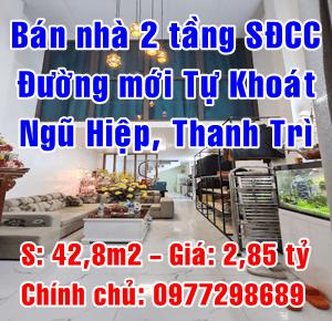 Chính chủ bán nhà 2 tầng đường mới Tự Khoát, Ngũ Hiệp, Thanh Trì