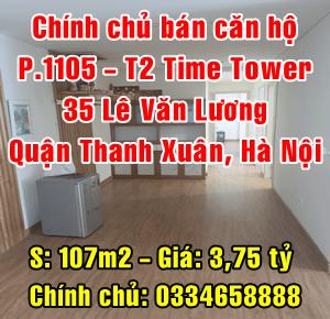 Chính chủ bán căn hộ cao cấp tòa T2, Time Tower 35 Lê Văn Lương, Thanh Xuân