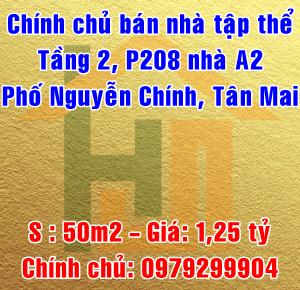 Chính chủ bán nhà tập thể P206-A2 Nguyễn Chính, Tân Mai, Quận Hoàng Mai