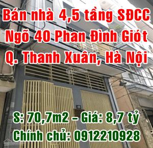 Chính chủ bán nhà số 49 ngõ 40 Phố Phan Đình Giót, Phường Phương Liệt, Quận Thanh Xuân