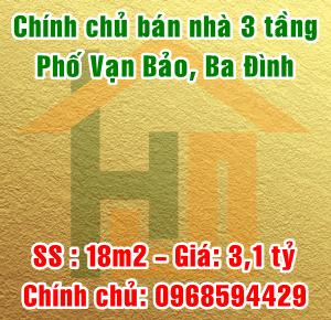 Chính chủ bán nhà phố Vạn Bảo, Phường Liễu Giai, Quận Ba Đình, Hà Nội