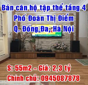 Chính chủ bán căn hộ tập thể Phố Đoàn Thị Điểm, Quận Đống Đa, Hà Nội