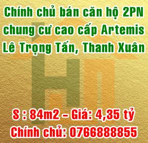 Chính chủ bán căn hộ cao cấp The Artemis, số 3 Lê Trọng Tấn, Quận Thanh Xuân