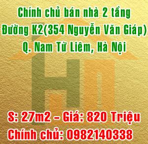 Cần bán gấp nhà 15A ngõ 394 đường K2, Phường Cầu Diễn,Quận Nam Từ Liêm